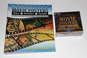 VINTAGE MOVIE POSTERS-COLLECTION-CARTES/CARDS-ALBUM+DISPLAY BOX