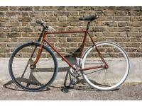 Fixed gear track bike custom build good specs fixie