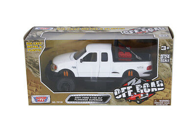 1:24 2001 Ford F150 XLT White Off Road Pickup Truck MOTORMAX SHOWCASTS (2001 Ford F150 Pickup Truck)