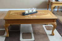 For Sale: Hardwood Coffee and End Table Set