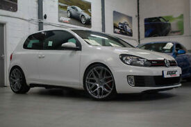 "VW Golf 2.0 TSI 210 GTi DSG, 60 Reg, 59k, Candy White, Sat Nav, New 19"" Alloys."