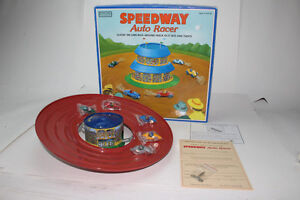 REDUCED - Schylling Speedway Race Set - Tin Wind-up