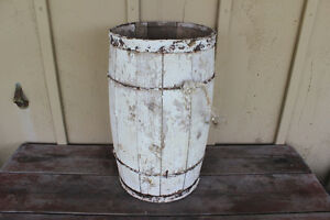 Old Wooden Nail Keg Painted White - Great for Christmas Decor London Ontario image 1