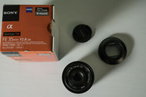 Sony Zeiss FE Sonnar Lenses 55mm f1.8 and 35mm f2.8