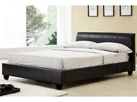 🔵⚫ SAME DAY CASH ON DELIVERY 🔵⚫New Double Leather Bed Frame With Memory Foam Mattress