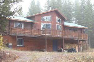 Log home for sale in Topley BC 5 acres