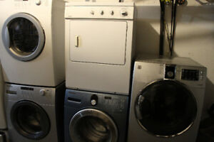 Front load washers and dryers