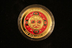 2015 Canadian Pure Gold Coin- Singing Moon Mask