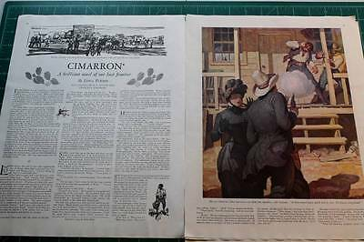 Vintage Original Article & Prints Cimarron Edna Ferber Illus, by N.C. Wyeth 1929