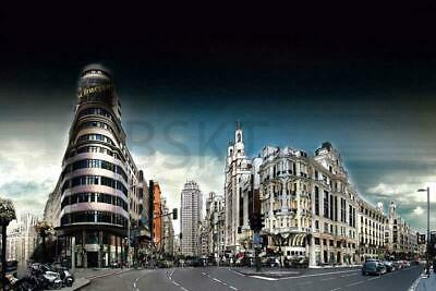 CUADRO lienzo 90x60 cm, Gran vía Callao, MADRID, acabado de galería (NUEVO)