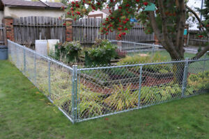 3' high chain link panel fencing