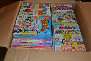 LARGE BOX 131 vintage 1980's Archie DIGEST Books $95 takes LOT! Windsor Region Ontario image 1