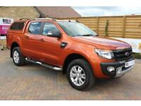 2014 FORD RANGER WILDTRAK 4X4 DOUBLE CAB 200 TDCI WITH TRUCKMAN TOP PICK UP DIES