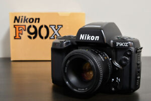 Nikon F90x Film SLR Camera with Nikkor 50mm f/1.8D Lens