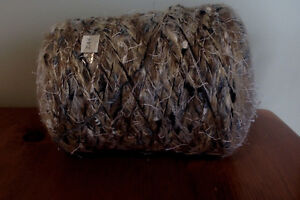 huge (2.3 kg) cones of yarn for knitting scarves, throws etc.