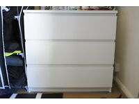 Ikea MALM chest of drawers white