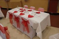 Location Housse de chaise, Nappe de table, Boucles
