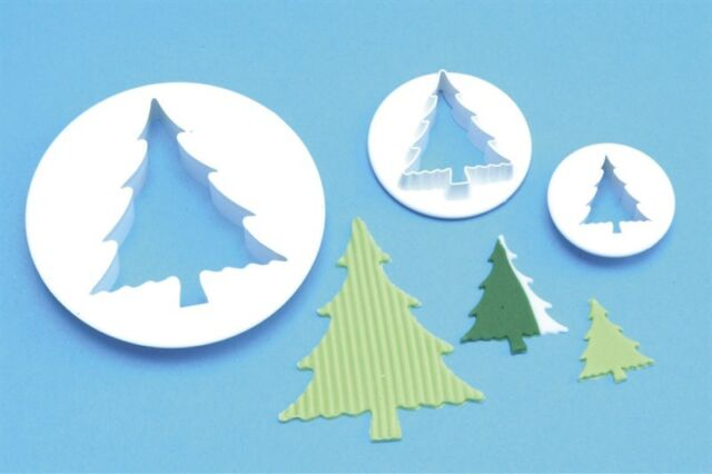 PME CHRISTMAS TREE CUTTERS CAKE DECORATING IN 3 SIZES