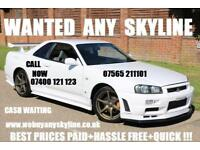 Nissan SKYLINE GTST R33 GTR R32 GTT UK'S BIGGEST BUYERS OF ALL SKYLINES