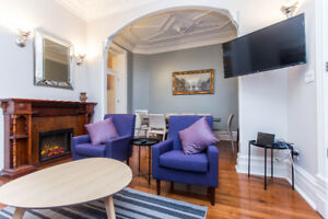 VICTORIAN STYLE, RENOVATED AND FULLY FURNISHED 6 BR APARTMENT