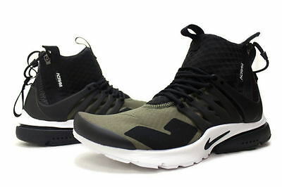 Nike Air Presto Mid X Acronym Sz M 10 11 Olive Black Dust 844672 200