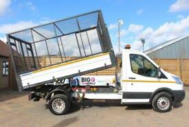 2015 FORD TRANSIT 350 TDCI 125 SINGLE CAB 'ONE STOP' CAGED TIPPER DRW RWD TIPPER