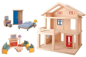 Plan Toys Plan Toys Dollhouse Series Terrace Dollhouse like new