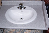 "30"" counter, sink and tap set"