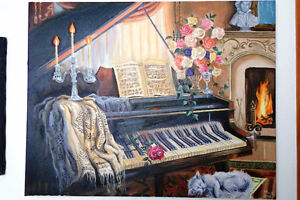 """Piano Composition - 30""""x24"""" acrylic painting"""