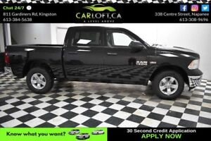 2017 RAM 1500 ST CREW 4X4 - LOW KMS - A/C - CRUISE