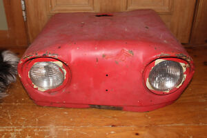 Old Case Tractor Hood - Upcycle Man Cave Industrial