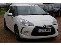2011 11 CITROEN DS3 1.6 HDI BLACK AND WHITE SPECIAL EDITION 3D 90BHP £30 TAX