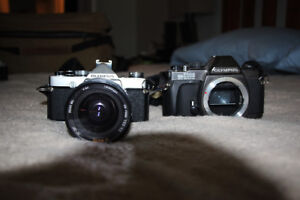 Olympus Film Cameras - OM 1 & OM 2000 Bodies and 1 Zoom Lens
