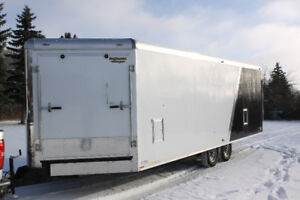 26' Continental Cargo Snow King enclosed sled trailer
