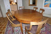Biedermeier style dining table and chairs