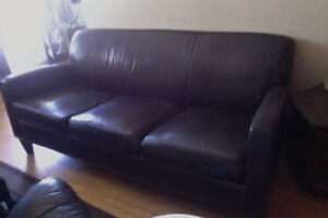 IKEA Couch / Sofa - Faux Leather 3-Seat