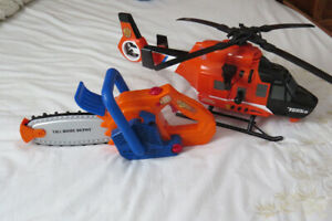 Toy Chain Saw and Tonka Helicopter $10.00