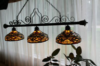 Stained Glass, 3 Lamp Fixture
