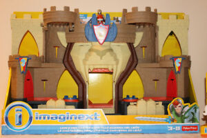 FISHER-PRICE: CHÂTEAU DU LION IMAGINEXT NEUF + 2 FIGURINES