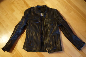 XS Womens Leather Motorcycle Jacket