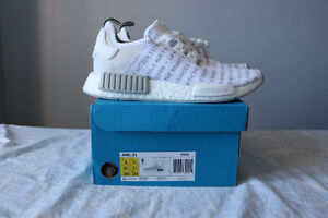 """adidas nmd """"white out"""" sz 8"""