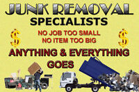 """JUNK REMOVAL SPECIALISTS"" REASONABLE RATES WITH FULL EQUIPMENT"