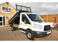 2015 FORD TRANSIT 350 TDCI 125 L2 SINGLE CAB STEEL TIPPER TIPPER DIESEL