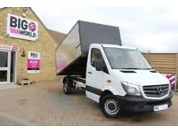2013 MERCEDES SPRINTER 313 CDI MWB SINGLE CAB ALLOY ARBORIST TIPPER TIPPER DIESE