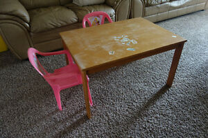 preschooler craft table and chairs