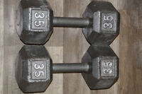 WOW - 2 haltères de 35 lbs / 2x35 lbs dumbell