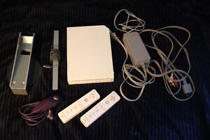 Nintendo Wii with 2 Remotes and Nunchuck
