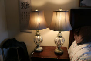 2 good quality table lamps