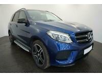 2017 BLUE MERCEDES GLE250D 2.1 AMG LINE PREMIUM 4MATIC CAR FINANCE FR £450 PCM