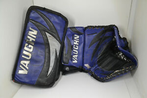 VAUGHN GOALIE GLOVES PRO STOCK WINDSOR SPITFIRES PASSINGHAM !!